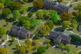 Colleges In Virginia Map by Photo Realistic Map Artwork Hampden Sydney College
