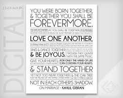 wedding quotes kahlil gibran khalil gibran etsy