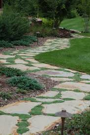 Flagstone Walkway Design Ideas by Flagstone Pathway With Thyme Topekalandscape Walkways U0026 Paths