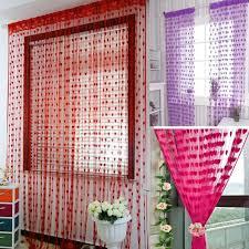 cute heart line tassel string door curtain window room divider