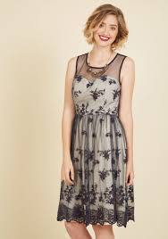 cherished charm lace dress in navy modcloth