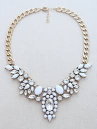 white necklace images Kapalua statement necklace white luxe ocean bella hawaii jpg
