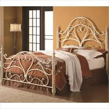 White Metal Headboard by Coaster Queen Ornate Spindle Headboard And Footboard In Egg Shell