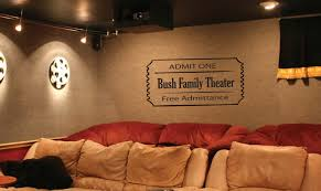 vinyl wall decal large movie ticket for home theater aprox size