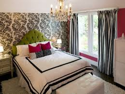 floral stripe bedroom window curtains