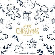 merry christmas background with nativity scene sketch vector