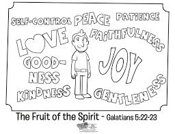 fruit spirit coloring whats bible