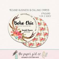 Round Business Card Round Business Cards Round Calling Cards Round Social Cards