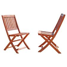 Folding Bistro Chairs Vifah Set Of 2 Outdoor Eucalyptus Wood Folding Bistro Chairs