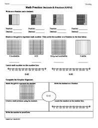 4 nf 6 decimals u0026 fractions 4th grade common core math worksheets