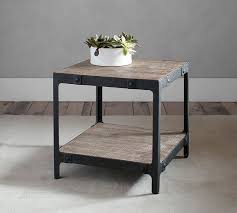 Barn Wood Coffee Table Clint Reclaimed Wood Side Table Pottery Barn