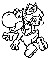 and yoshi coloring pages to print