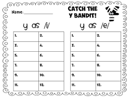 y as a vowel phonics worksheet teaching the letter y letter y