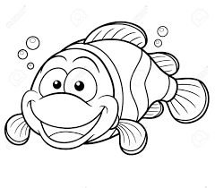 clown fish coloring page elegant clown fish in sea anemones with