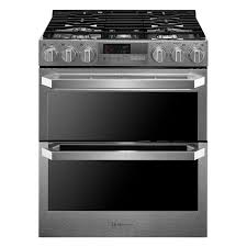 shop double oven gas ranges at lowes com