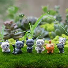 2pcs miniature grumpy cat resin craft home artifical animal decor