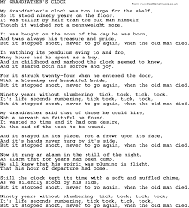 grandfather s johnny cash song my grandfather s clock lyrics