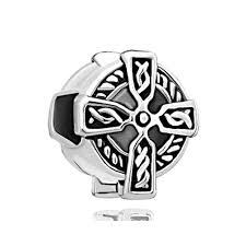 silver cross bracelet charm images Silver celtic claddagh irish cross bracelet charm charm bracelet jpg