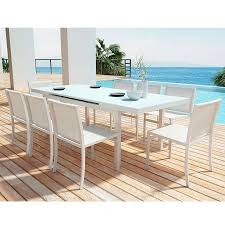 Modern Patio Dining Sets Maribella White Modern Outdoor Dining Set Eurway