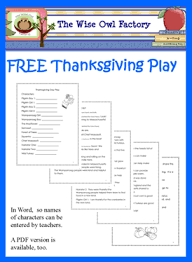 free thanksgiving day play word doc thanksgiving and words