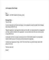 job offer letters sample job offer acceptance letter job offer