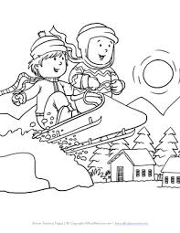 coloring pages about winter winter coloring pages print winter pictures to color all kids
