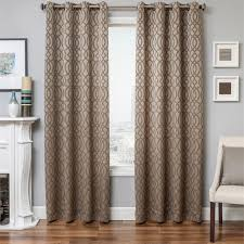 Brown Patterned Curtains As Your Curtains Are Taupe You Can Afford To Go For A Real Grey