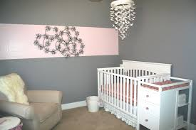 Chandelier Baby Room Gray And Pink Baby Room