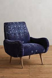 Deep Armchair Deep Seat Midcentury Vintage Pattern Chair