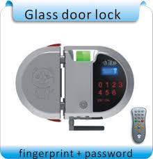 double glass door lock best free shpping diy avoid openhole double open fingerprint