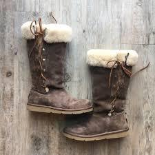 ugg shoes australia brown boots poshmark 80 ugg shoes ugg australia s brown lace up boots from