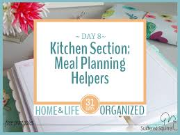 organized home printable menu planner getting the kitchen section started with meal planning helpers