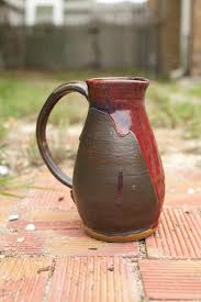 Black And Red Vase Handmade Black And Red Ceramic Pitcher Vase Ceramic Pinterest