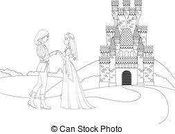 eps vector magic castle coloring coloring