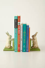 bunny bookends handpainted bunny bookends anthropologie