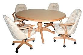 dinette table and chairs with casters rolling dining chairs perfect dining room table and chairs with