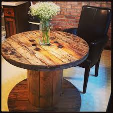 Cable Reel Chair Dining Rooms Cool Modern Dining Room Cable Spool Table Dining