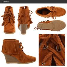 Brown Fringe Ankle Boots Etfil Rakuten Global Market Minnetonka Genuine Lace Up Fringe