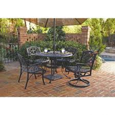 Round Patio Dining Set - patio 61 round patio table round outdoor table with umbrella