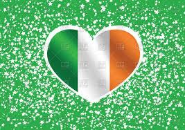 Irrland Flag Heart Shaped Ireland Flag Royalty Free Vector Clip Art Image