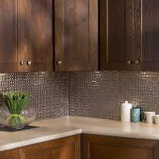 Fasade Kitchen Backsplash Fasade Terrain In Brushed Nickel Backsplash 18 Square Kit