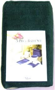 5 Piece Bathroom Rug Sets by 16 99 5 Piece Hunter Green Bathroom Rug Set Includes Area Rug