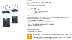 bell howell tac light lantern in today s gold box at amazon you can get a 2 pack of collapsable