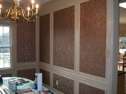 dining room design accents wallpaper within shadow boxes all