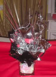 centerpieces for class reunions small centerpieces for black silver and themed high school