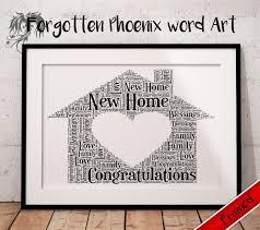new house gift new home gift personalised word art a4 bespoke keepsake present