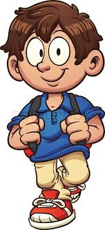 boy clipart school boy walking vector clip illustration with simple