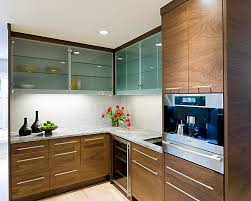 Glass Shelves For Kitchen Cabinets Frosted Glass Cabinet Doors Kitchen Modern With Caesarstone Cherry