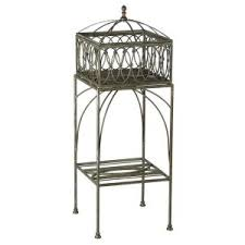 bombay outdoor furniture bombay outdoors lyon filigree 13 5 in w x 37 99 in h brown metal