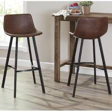 low bar stool chairs low back bar stools you ll love wayfair